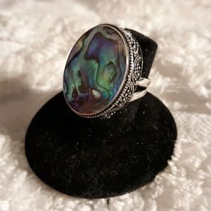 Vintage Sterling Silver & Mother of Pearl Ring